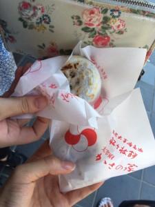 焼きたての梅ヶ枝餅✨(どんだけスイーツ食べてんだ