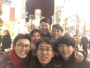 翌日は台湾ディベーターズと渋谷で合流!