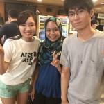 My amazing partner Yuki and lecturer Aquila✨✨✨